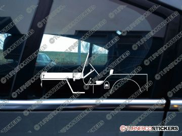 2x Car Silhouette sticker - 1945 Willys-Overland Jeep CJ-2A